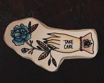 Take Care Mini Sticker