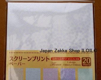 Japanese ORIGAMI paper Flower Pattern(Screen Print)