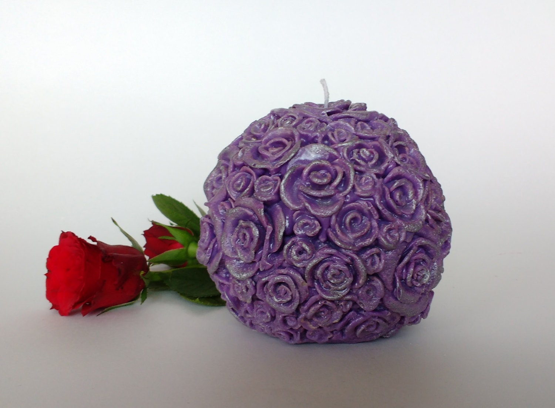 Rose ball candle decorative candles unique