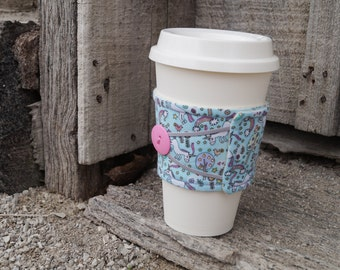 Reusable Coffee Cup Cozy ~*Unicorn Print*~
