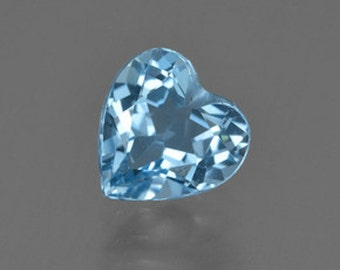 AAA Heart Faceted Genuine London Blue Topaz (5X5mm- 10X10mm). 811-931
