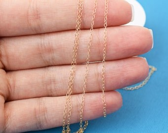 Gold Fill 1.1mm Cable Chain, Tiny Cable Chain, Super Dainty Chain, Gold Filled Bulk Chain, 14k Gold Filled, Jewelry Supplies, GF661