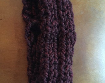 Maroon ear warmer
