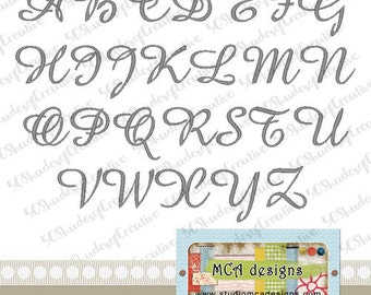Amalia Embroidery Font