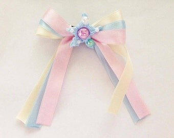 Kawaii marshmallow pastel fairy kei star bow, sweet lolita, pastel kei, harajuku etc inspired
