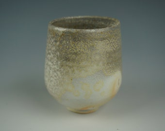 Yunomi - Tea Cup - Anagama Wood Fired - Babu Porcelain - Raw Ash Glaze