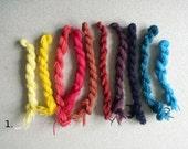 Yarn for embroidery * Needlecraft * Crewelwork * Stump work * Wool * Swedish embroidery * Material * Handdyed yarn  * Beautiful colors *