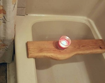 Thin all natural wooden bath tray