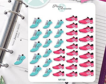 Running Stickers  Fitness Stickers Exercise Stickers Planner Stickers Erin Condren Functional Stickers- NR168