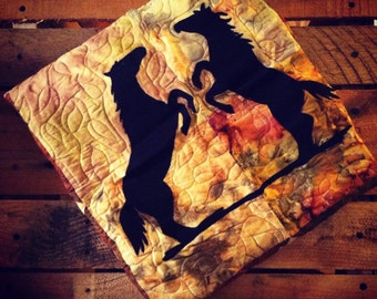 Square Horse Sunset Wall Hanging