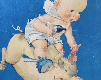 Vintage Advertising Paper Fan