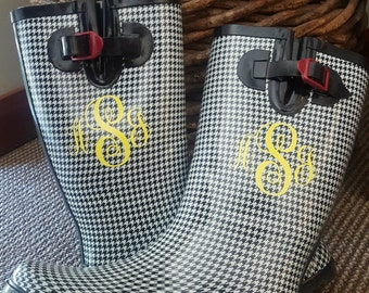 Rainboot Monograms