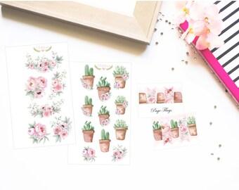 Flower Cactus stickers