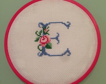 Cross stitch letter