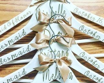 Wedding Hangers, Bride Hanger, Bridesmaid Hangers, Personalized Bridal Party Hangers