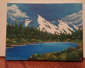 Summer Valley; Acrylic on canvas