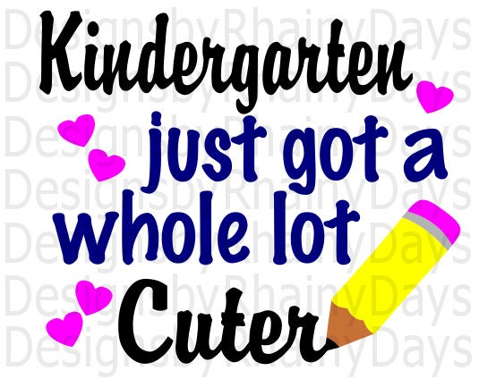 Buy 3 get 1 free! Kindergarten just got a whole lot cuter cutting file, SVG, DXF, png, design, back to school