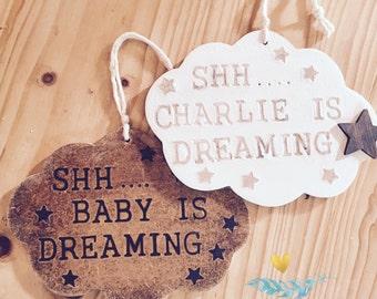 Baby Sleeping | Baby Dreaming | Door Hanger | Door Sign | Door Plaque
