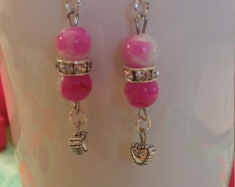 Pink Perfume Earrings