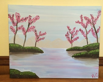 Pink Trees Painting