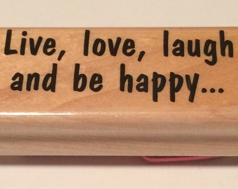Live, love, laugh Stamp