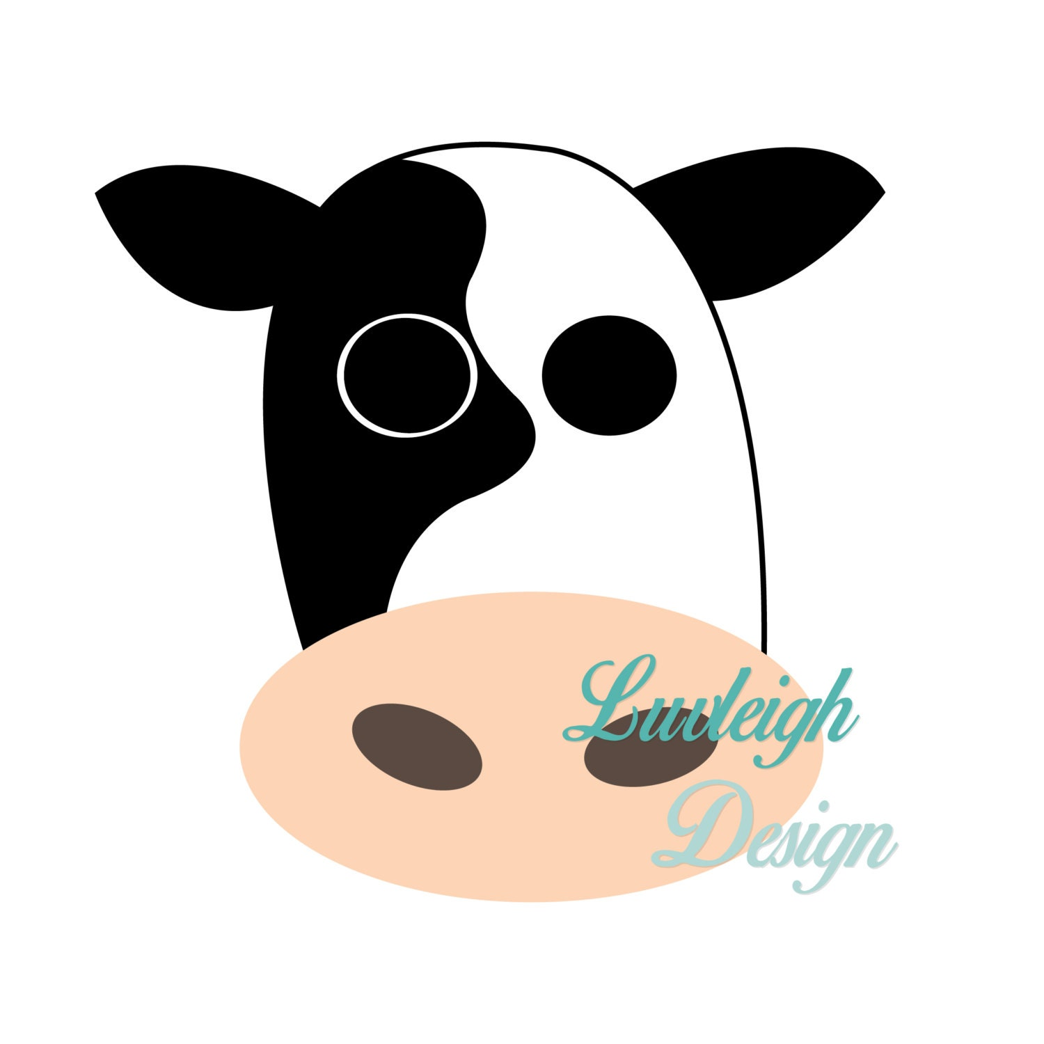 cow face farm barn country animal clipart download vector file