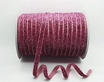 Glitter Ribbon, Glitter Velvet Ribbon, Headband Ribbon, Sparkly Ribbon, 10mm Ribbon, 10mm Headband Ribbon, Bow Ribbon, Sparkly Bow Ribbon,