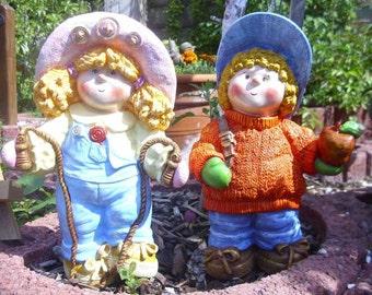 Doll couple ceramic