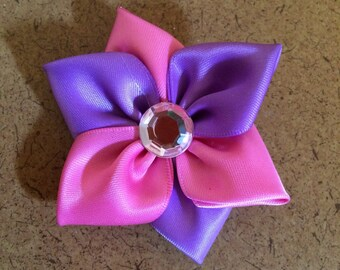 Pink and Purple Flower Barrette