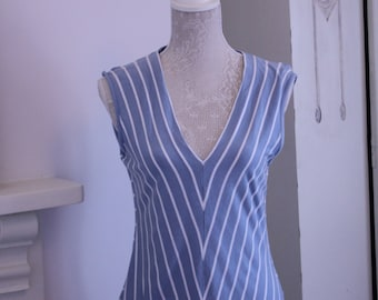 Vertical striped Jaeger top