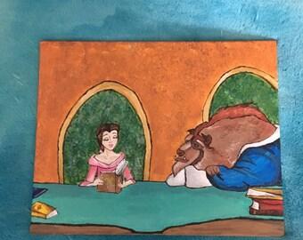Disney's Beauty and the Beast Acrylic Painting