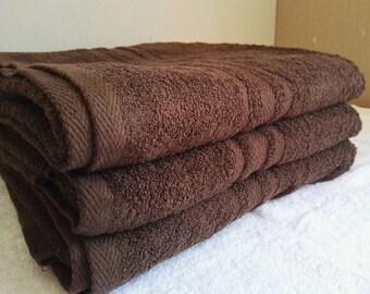 Personalised Luxury 100% Cotton Chocolate Bath Sheet 550 gsm