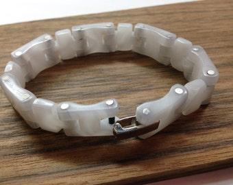 White acrylic bracelet
