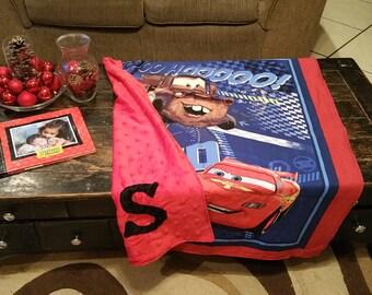 Cars Customs Toddler Blanket, Disney Crib Blanket, Lightening McQueen Blanket