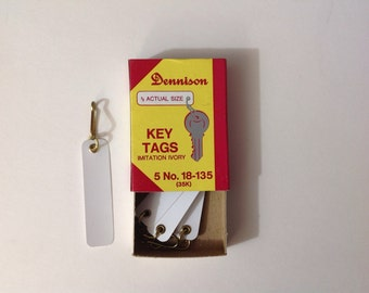 Dennison Key Tags, Dennison Office, Vintage Dennison, Matchbook Style, Match Book, Vintage office, Scrapbooking, Upcycle, Repurpose,