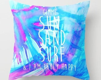 Sun, Sand, Surf Throw Pillow