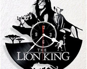 Vinyl wall clock Lion King