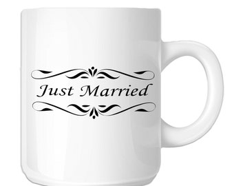 Just Married Bride Groom Wedding (SP-00084) 11 OZ Novelty Coffee Mug