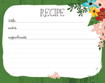 Recipe Cards - Spring Bloom
