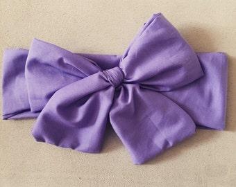 Perfectly purple headwrap