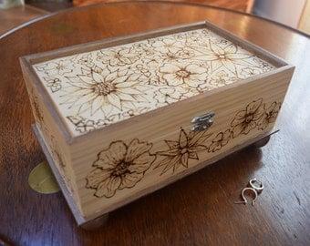 woodburned jewelry box