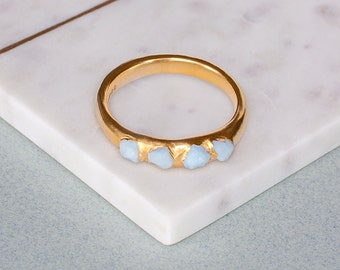 Personalised Birthstone Aquamarine Ring