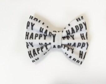 MINI Happy Bow, baby headband, baby hair clip, hair bow, headband, baby girl, girl toddler, baby gift