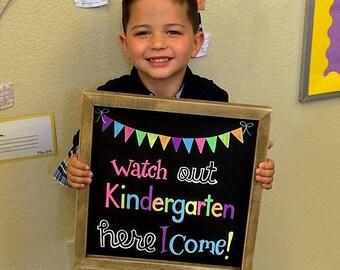 Kindergarten graduation chalkboard