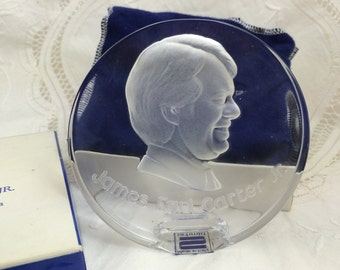 Jimmy Carter, Inauguration Souvenir, Glass Paperweight
