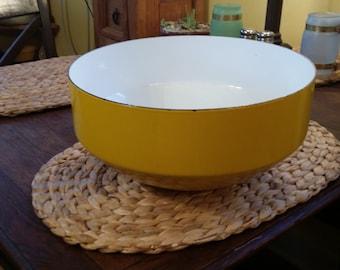 "Copco Michael Lax Cast Enamel Large 12"" Bowl, made in Switzerland"