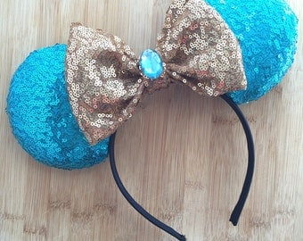 Jasmine Minnie Ears, Jasmine Mouse Ears, Jasmine Inspired Ears, Princess Jasmine Ears, Arabian Princess Ears, Minnie Ears, Disney Ears