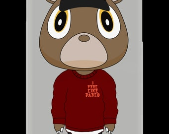 CaseNerd Kanye Bear Season 2 Rubber iPhone Case