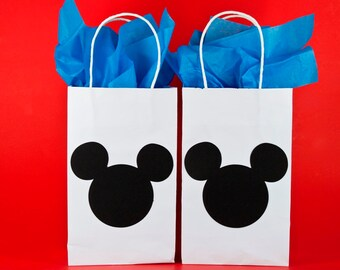 Qty. 12 - Minnie Mouse Party Bags - Minnie Mouse Birthday - Minnie ...