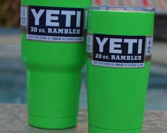 Neon Lime Green Yeti Rambler